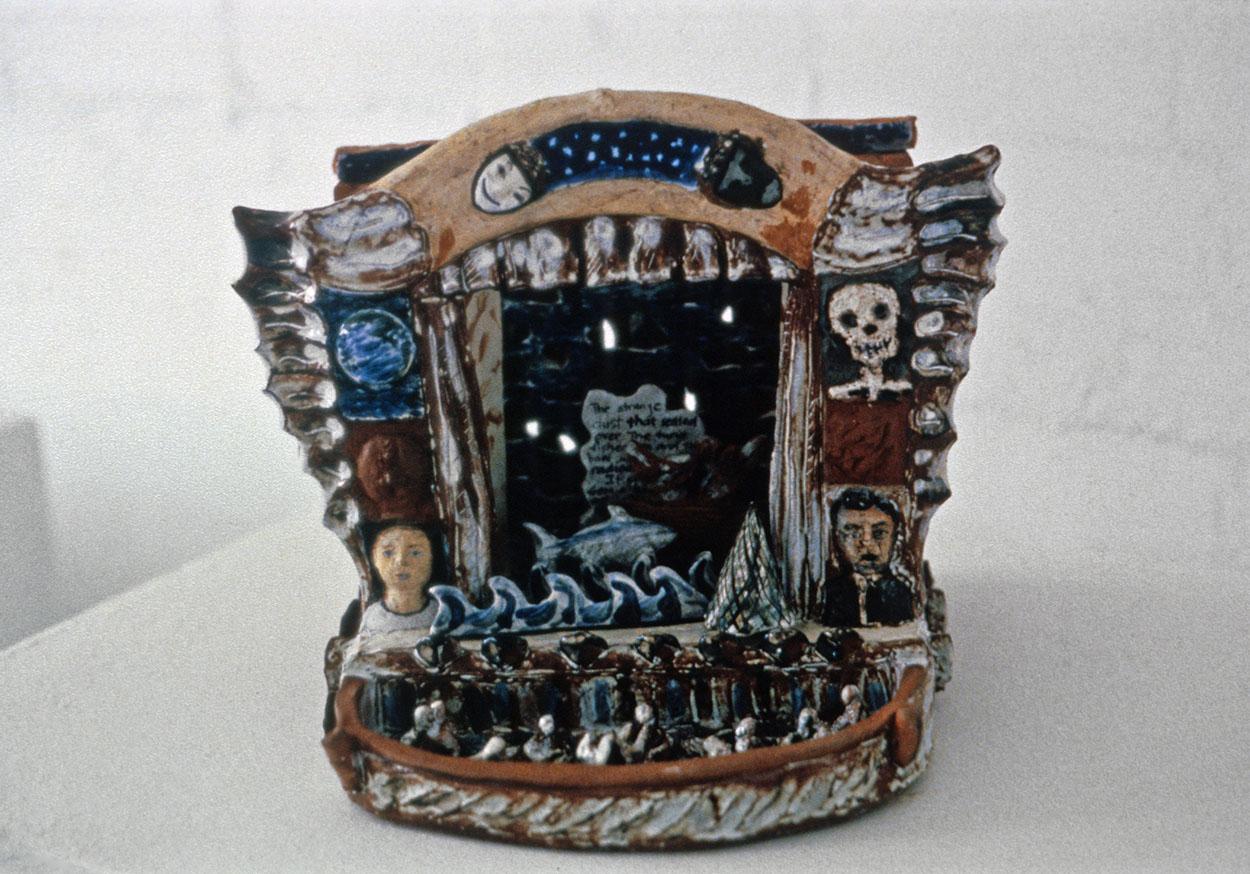 Toni Warburton, Artist. Ceramics, Christine Abrahams Gallery, Melbourne. 1985