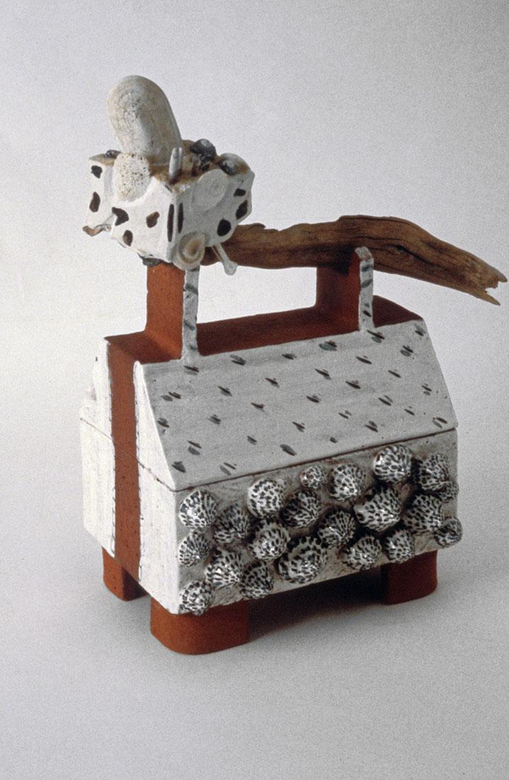 Toni Warburton, Artist. Vase Rattle and Box, 1984