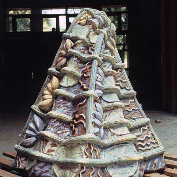 Toni Warburton, Art Exhibition. Configuration I, Installation of Terracottas, (self published catalogue), Fine Arts Gallery Maharaja Sarajevo University Vadodora, Gujarat, India. 1988