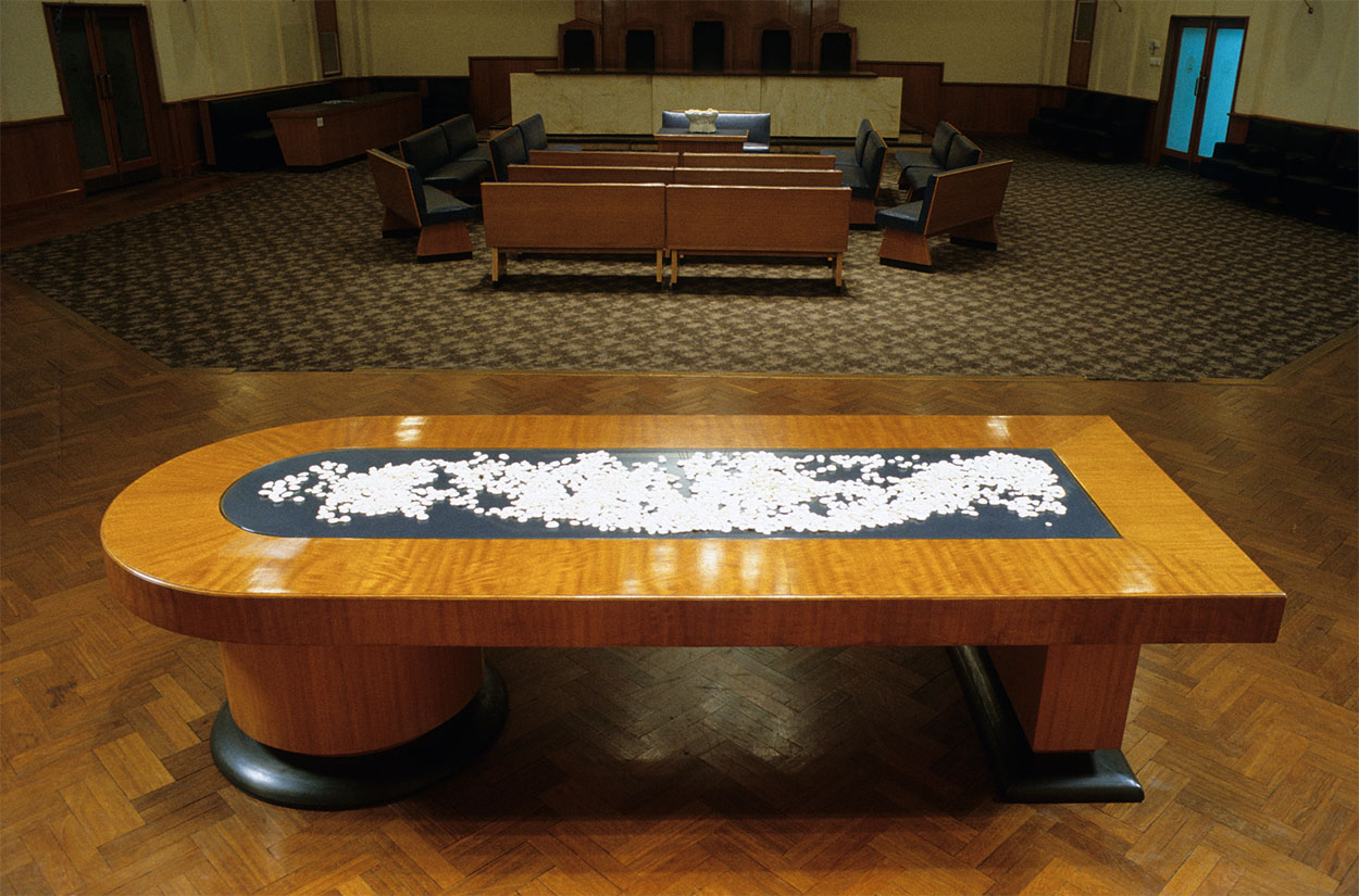 Toni Warburton, Artist. Wish Hard, Curated Jo Holder, pre renovated Wollongong City Gallery formerly the Council Chambers. 1992