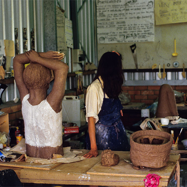 Process, Brickworks, figurative sculptures made by local artists at Ralph Britain and Son's Brickworks Reading Pitts, Griffith University. 1986