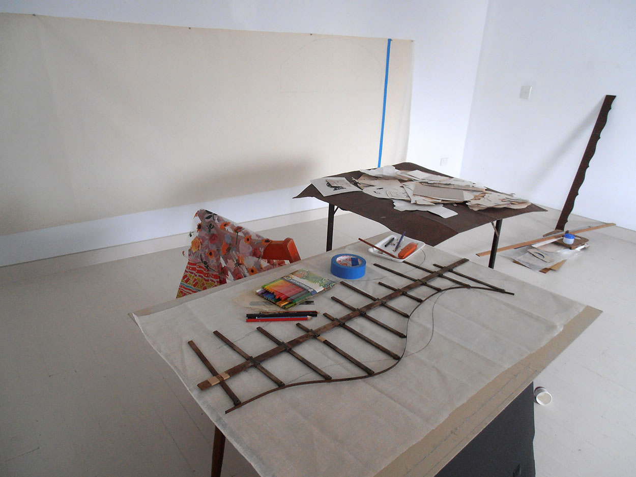 Process, Eye of Horus retrieval installation project, Articulate Project space, 2012