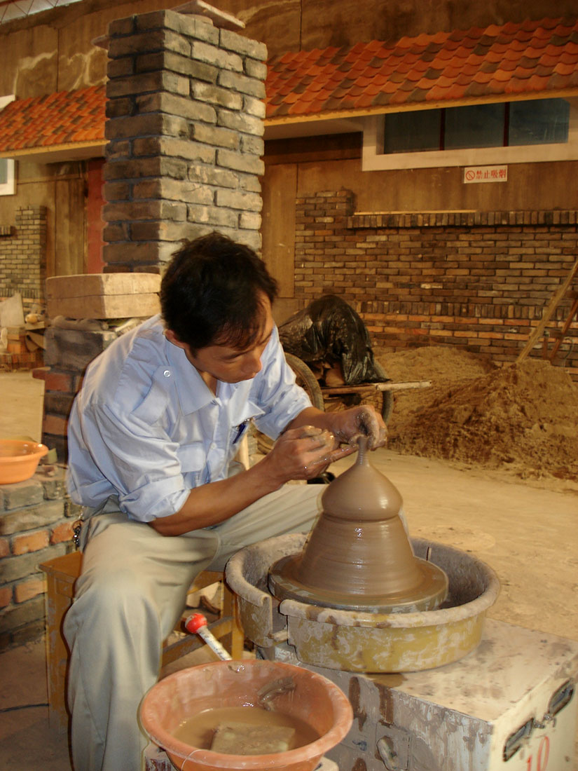 Process, Residential workshop; FLICAM International Ceramic artists program Fuping Pottery Village and Factory, China. Works created were retained for the Australasian Ceramics Museum. 2006