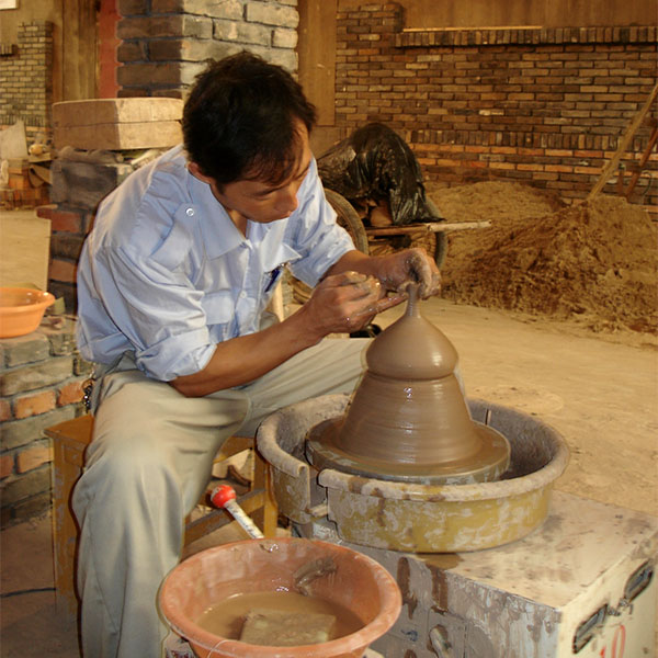 Process - Residential workshop; FLICAM International Ceramic artists program Fuping Pottery Village and Factory, China. Works created were retained for the Australasian Ceramics Museum. 2006