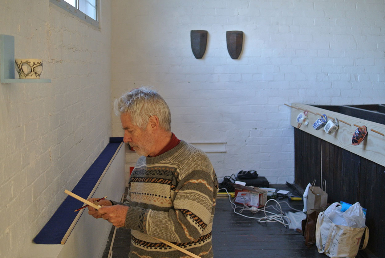 Toni Warburton, Artist. Art Exhibition Boat, Process, Articulate Project Space, 2017