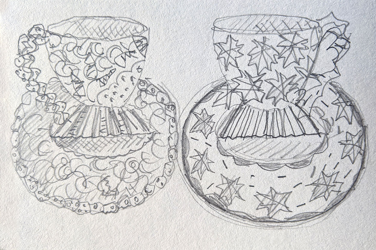 Toni Warburton, Drawing. Themes, Cup Patterns