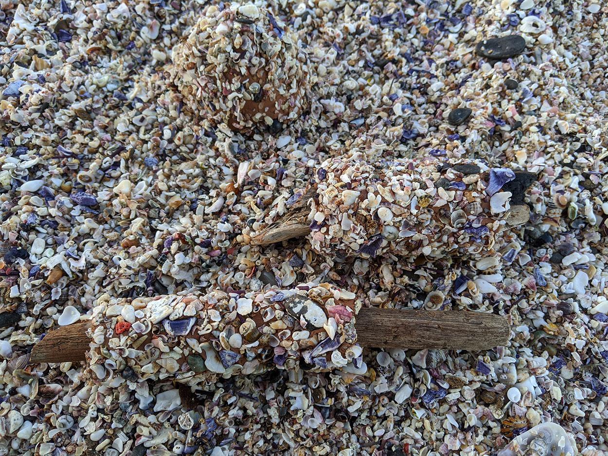 Toni Warburton Artist. Process, Limpet footed cup saltwater series