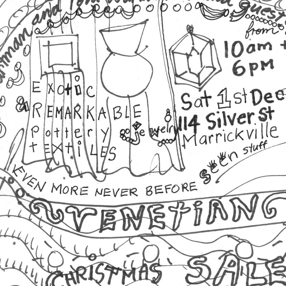 Toni Warburton, Artist. Ephemera for Silver Street Christmas Sales